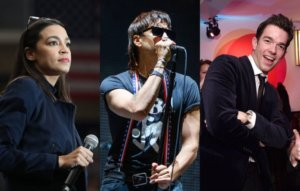 Watch Alexandria Ocasio-Cortez and John Mulaney open for The Strokes at Maya Wiley fundraiser